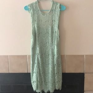 Free People Olive fitted dress
